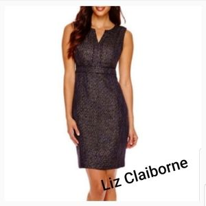 Liz Claiborne tweed sheath dress. Sz 16